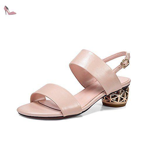 RUGAI-UE La mode des femmes d'été confortables sandales hauts talons,39 apricot