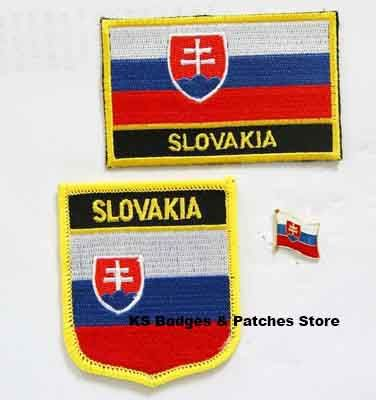 Slovakia flag patch badge 3pcs a Set Free Shipping #Affiliate