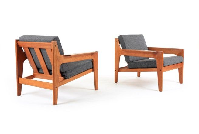 Pair of Arne Wahl Iversen Armchairs - Mr. Bigglesworthy Designer Vintage Furniture Gallery