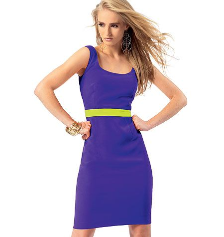 Misses' Dress  another EASY rated McCALL'S M6699  SHIFT style with suggested lining in contrasting color to show in the back vent!