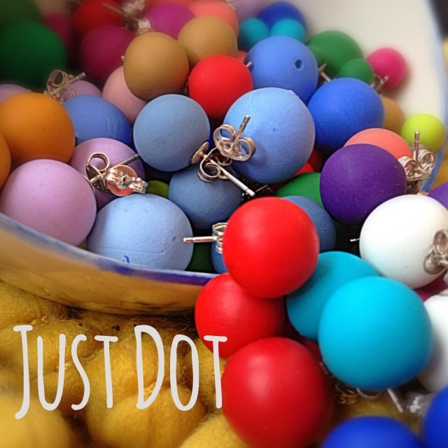 Dot Stud Earrings - by JustDot on madeit