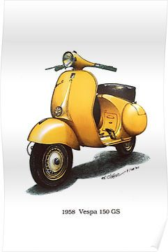 .Yellow Vespa