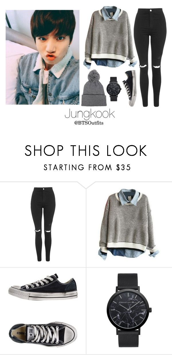 """Jeju Island with Jungkook"" by btsoutfits ❤ liked on Polyvore featuring Topshop and Converse"