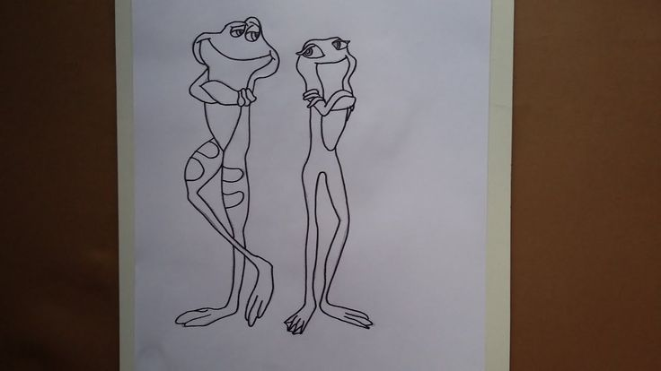 Como dibujar a La princesa y el sapo|How to draw The Princess and the Frog