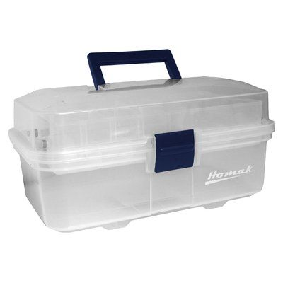 "Homak Plastic Transparent 13"" Tool Box"
