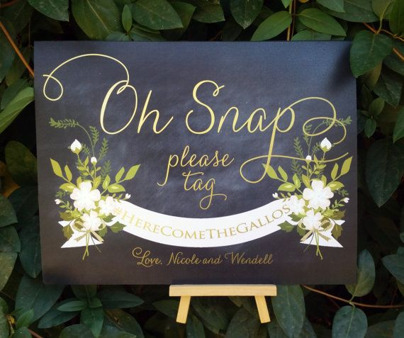 Oh SnapIf you Instagram sign Instagram wedding sign by TheFindSac