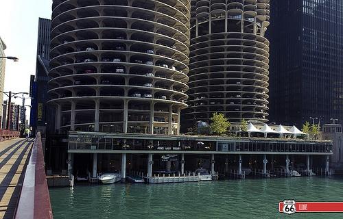 Marina City dock. CHICAGO, IL