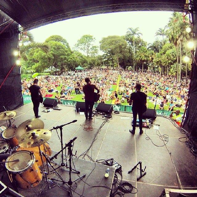 Backstage view of #JustJinjer jamming to the crowd at Durban Botanical Gardens! #ProudlyDurbanite #Durban #Durbanbotanicalgardens #OldMutual #Musicatthelake #welovedurban