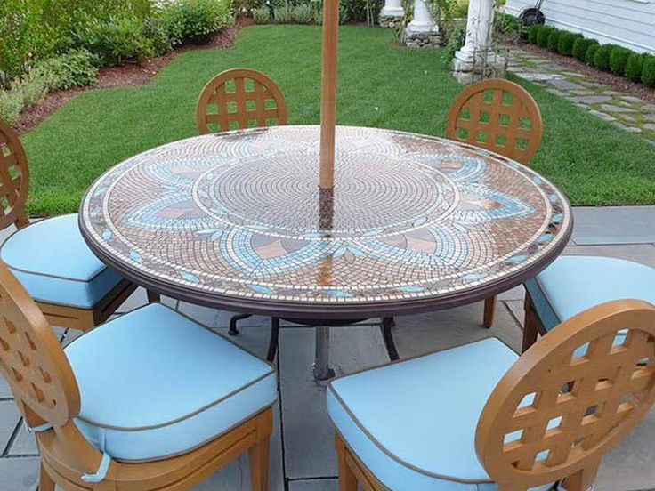 Round Patio Table Cover with Umbrella Hole9 best Outdoor furniture images on Pinterest   Patio dining  Round  . Round Patio Set Cover. Home Design Ideas