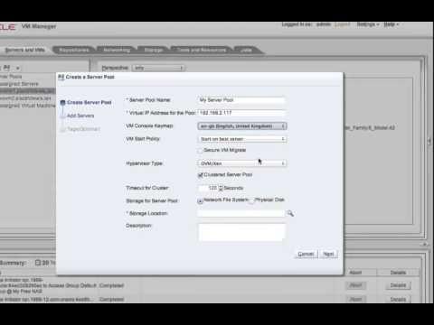 Oracle VM 3.2.1 Demo
