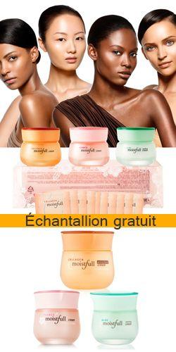 Échantillon de produits crème Etude