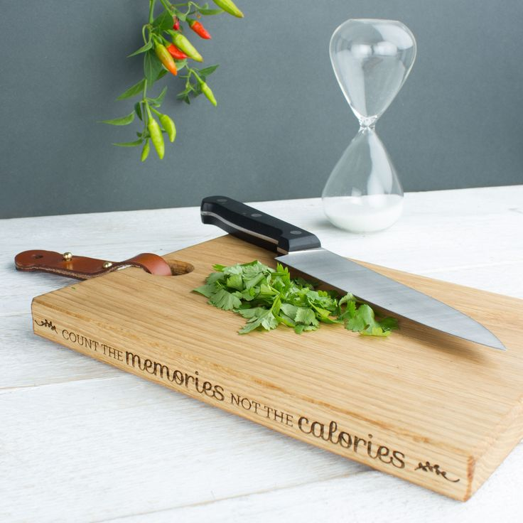 Personalised Wood Chopping Board New Home