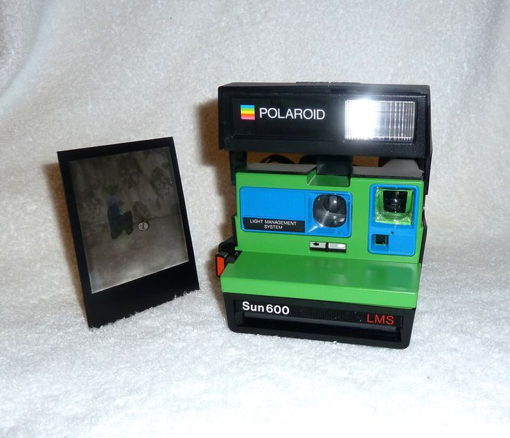 Polaroid Sun 600 LMS - Cleaned, Tested and Upcycled Green and Blue by UpcycledClassics on Etsy https://www.etsy.com/listing/221845440/polaroid-sun-600-lms-cleaned-tested-and