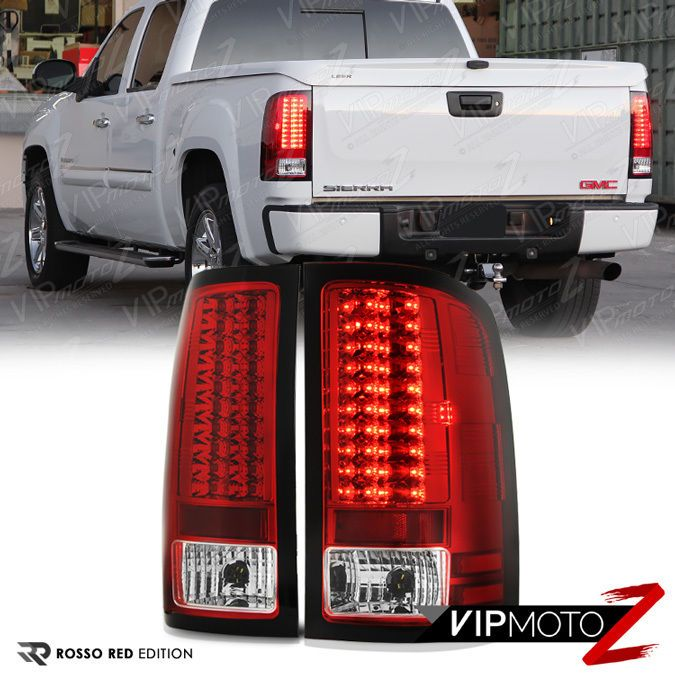details about [premium] 2007-2013 gmc sierra 1500 2500hd 3500hd factory red  led tail lights   gina the gmc   led tail lights, sierra 1500, red led