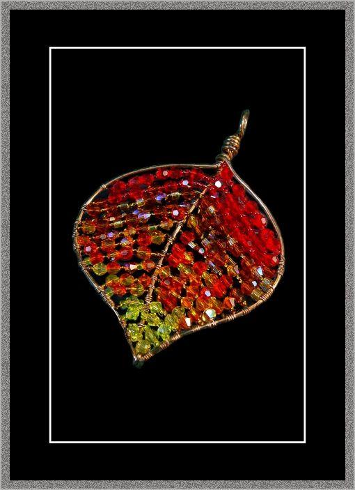 Copper Leaf Pendant by Kat Clark