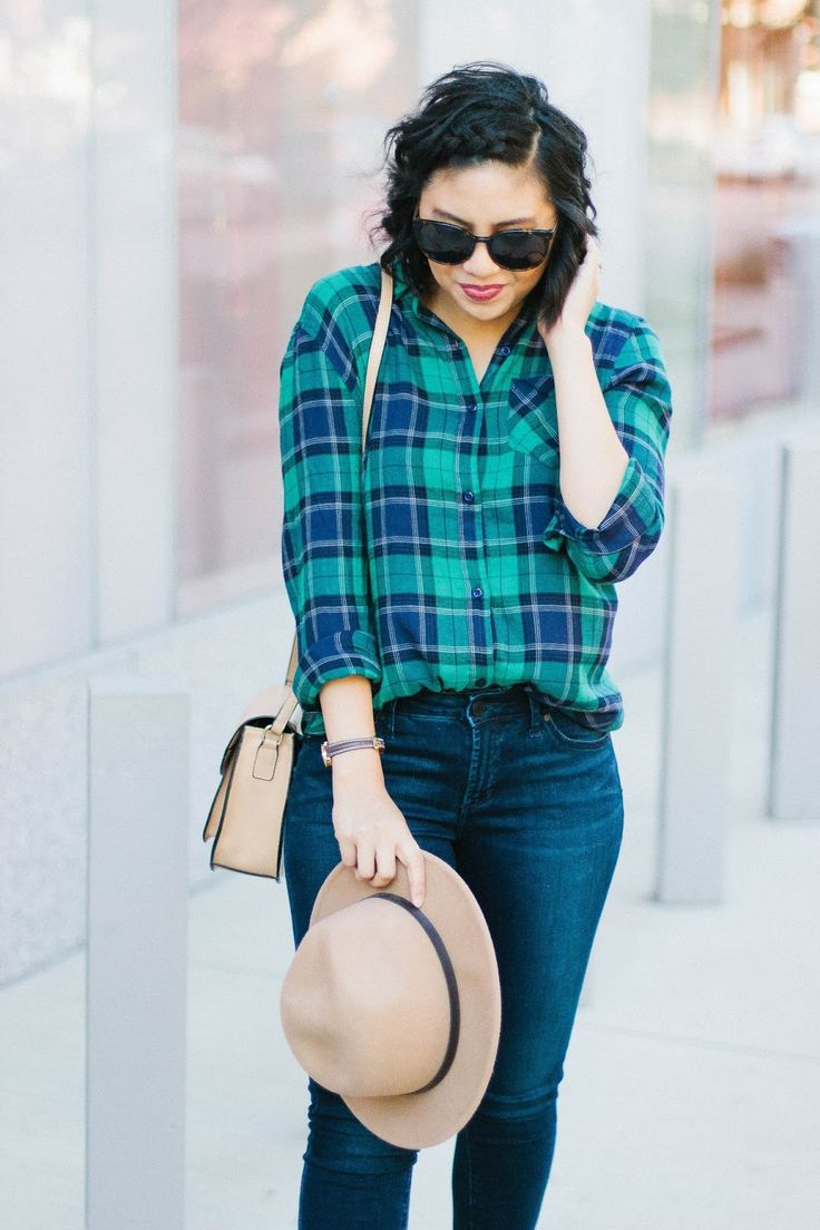 The Boyfriend Fit Plaid Shirt Is the Best Style of Shirt // Top 5 Boyfriend Plaid Shirts for under $50 // #FallFashion #FallOutfits #FallStyle