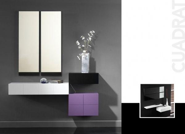 Recibidor cuadrat 5 recibidor dise o moderno muebles for Muebles de entrada modernos