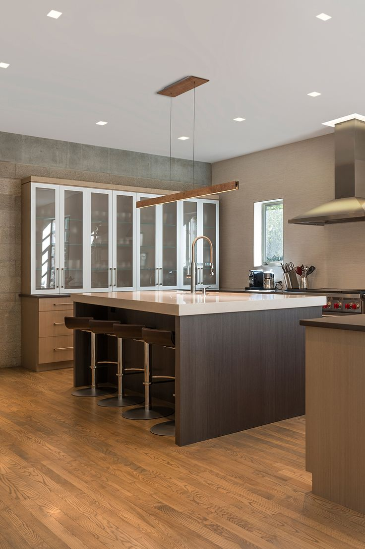 Kitchen Island Task Lighting - Glide up down provides ideal task lighting for this island counter top unique lighting