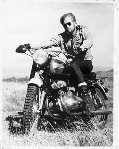 Brooks Townes and his 1967 Jawa 350 Californian. (Read about Brooks' memories of this bike at motorcycleclassics.com)