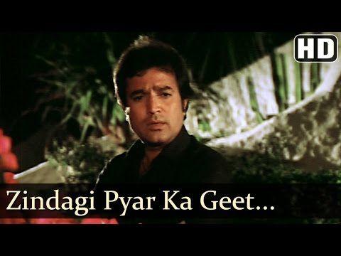 Zindagi Pyar Ka Geet Hai - Padmini Kolhapure - Rajesh Khanna - Souten - Old Hindi Songs - Kishore - YouTube