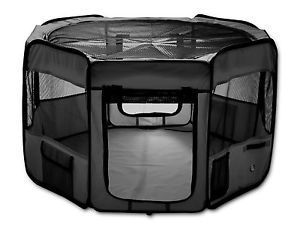 ESK COLLECTION Pet Puppy Dog Playpen Exercise Pen If you have a puppy or dog that has a high energy level and a tendency to get in trouble when he's out and about, then a good solution for you would be a doggy play pen.