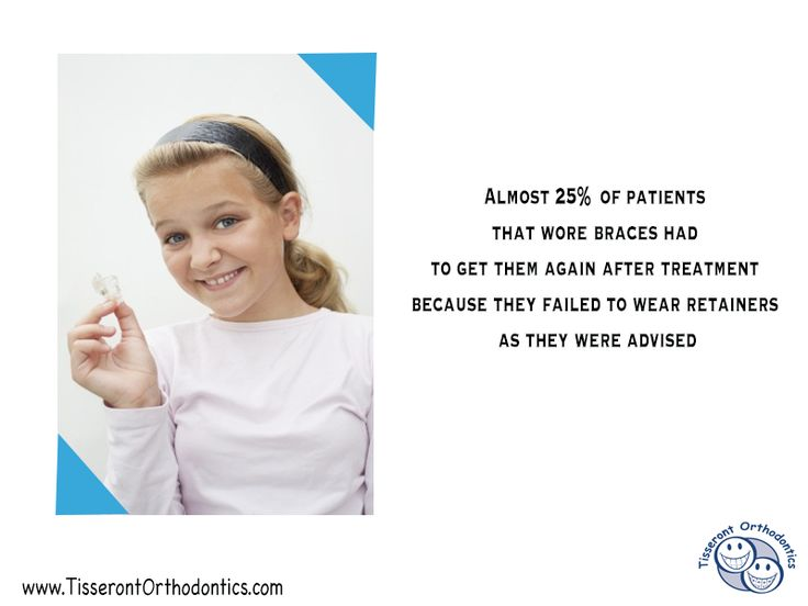 Orthodontic Fact #1 Almost 25% of patients that wore braces had to get them again after treatment because they failed to wear retainers as they were advised  - Tisseront Orthodontics 11720 Plaza America Dr, Ste 110 Reston, Virginia 20190 Phone: (703) 773-1200 #Orthodontist #braces #TisserontOrtho