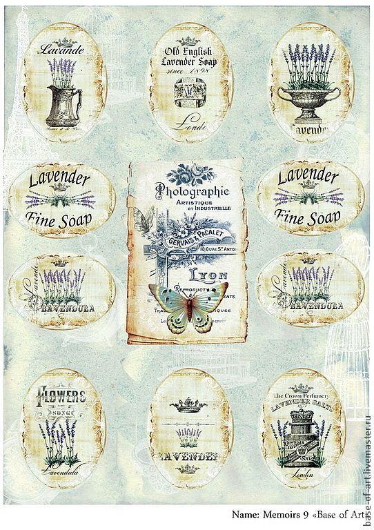 """Купить Декупажные карты """"Old Note"""" от """"Base of Art"""" - комбинированный, декупажные карты"""
