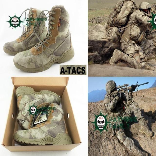 Мужские пустыни тактические ботинки армейские военные военные ботинки восхождение горные ботинки кроссовки 1000D камуфляж ATACS