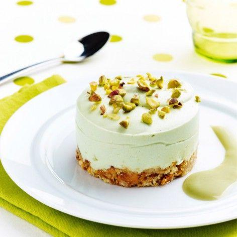 Cheesecake pistache à la crème Mont Blanc