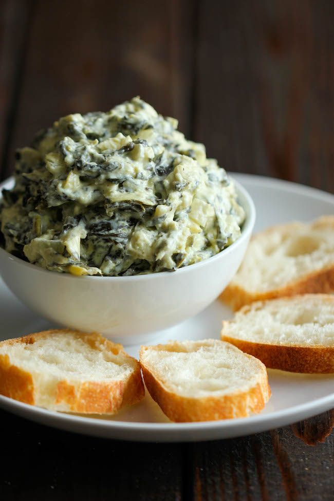 Slow Cooker Spinach and Artichoke Dip - Damn Delicious