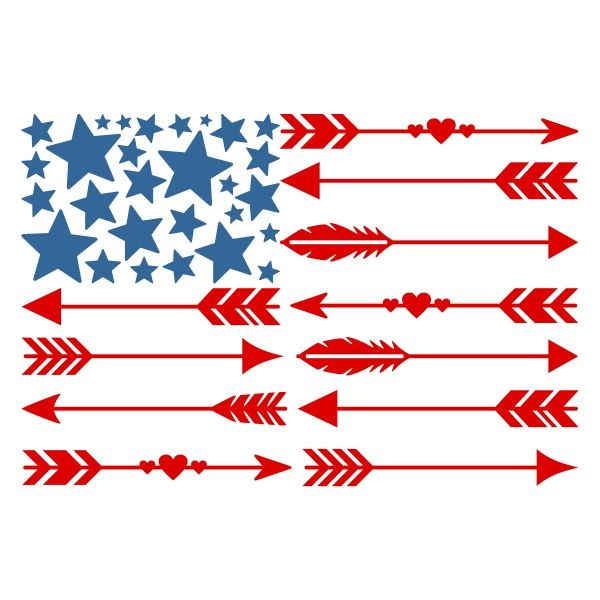 USA America Flag Arrow Cuttable Design Cut File. Vector, Clipart, Digital Scrapbooking Download, Available in JPEG, PDF, EPS, DXF and SVG. Works with Cricut, Design Space, Sure Cuts A Lot, Make the Cut!, Inkscape, CorelDraw, Adobe Illustrator, Silhouette Cameo, Brother ScanNCut and other compatible software.