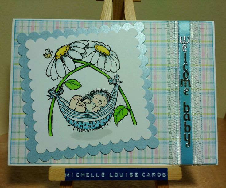 Penny Black stamp Margaret Sherry Nap Time new baby boy card