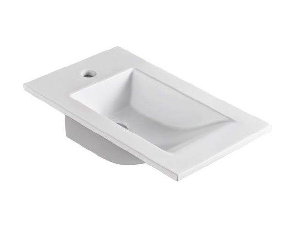 Atypicky úzké keramické umyvadlo od výrobce Rea se zapouští dovnitř desky či umyvadlové skříňky. Moderní design a dokonalé provedení tohoto produktu dopomáhají k tomu, aby se vaše koupelna stala jedinečnou.