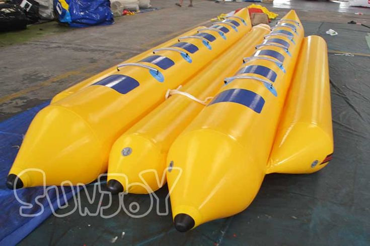 12 person double tube inflatable banana boat for sale with affordable price at sunjoy.