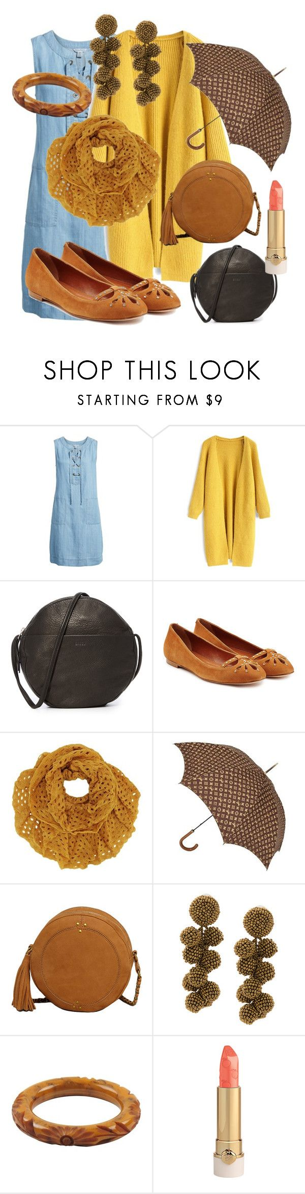"""Rainy summer outfit"" by tinakriss ❤ liked on Polyvore featuring Tommy Bahama, Chicwish, BAGGU, Vanessa Bruno, Louis Vuitton, Jérôme Dreyfuss, Sachin + Babi and statementbags"
