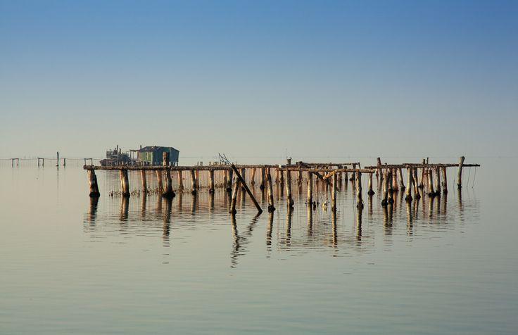 View of Chioggia in the Venice lagoon