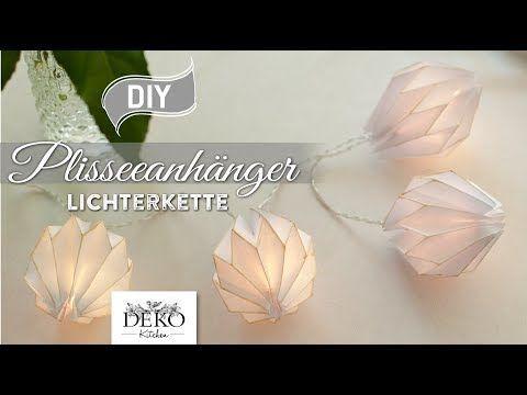 (17162) DIY: edle Lichterkette mit Plisseeanhängern aus DIN A4 Papier [How to] Deko Kitchen - YouTube