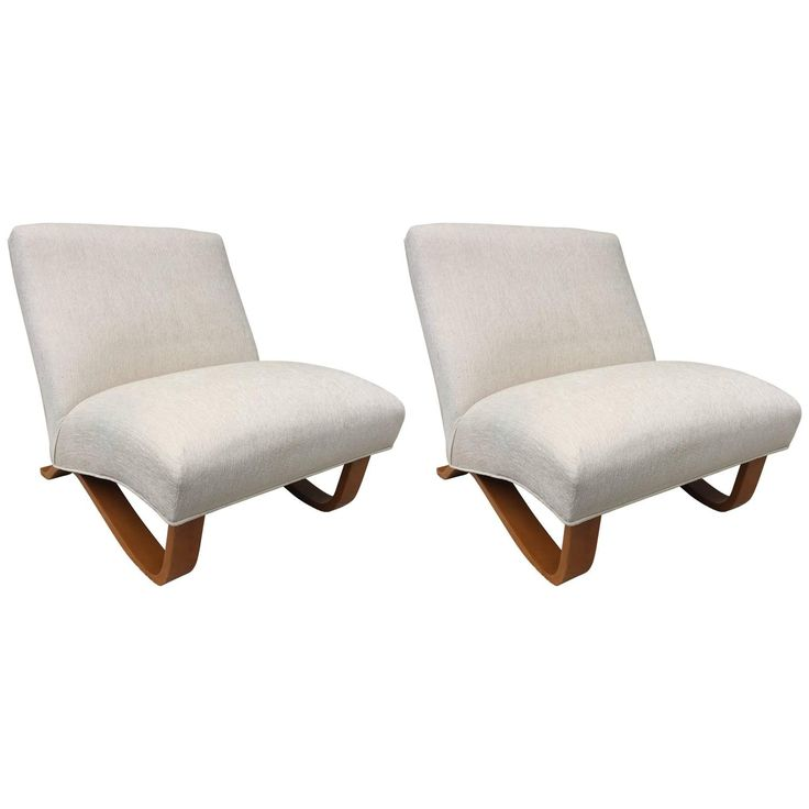 Pair of Thonet Low Armless Club Chairs Jindrich Halabala