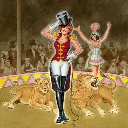 Inspiration for lion tamer Halloween costume.