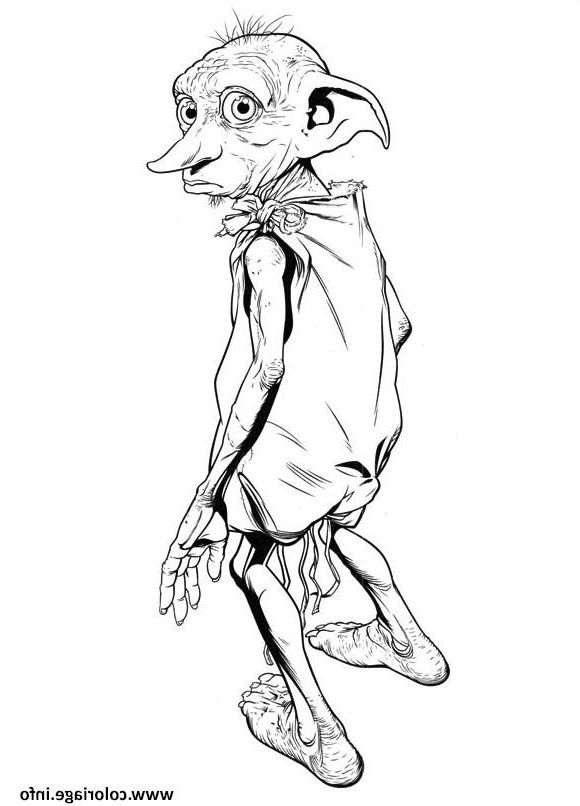 Dobby Elf Harry Potter Coloriage Dessin Harry Potter Coloring