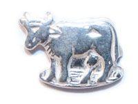 Appenzeller Kuh Ohrstecker (Chüeli) Silber -Detail