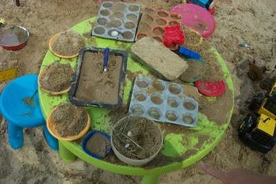cooking in sandpit