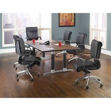 Mahogany Conference Table with 6 Mid Back and 1 High Back Chair