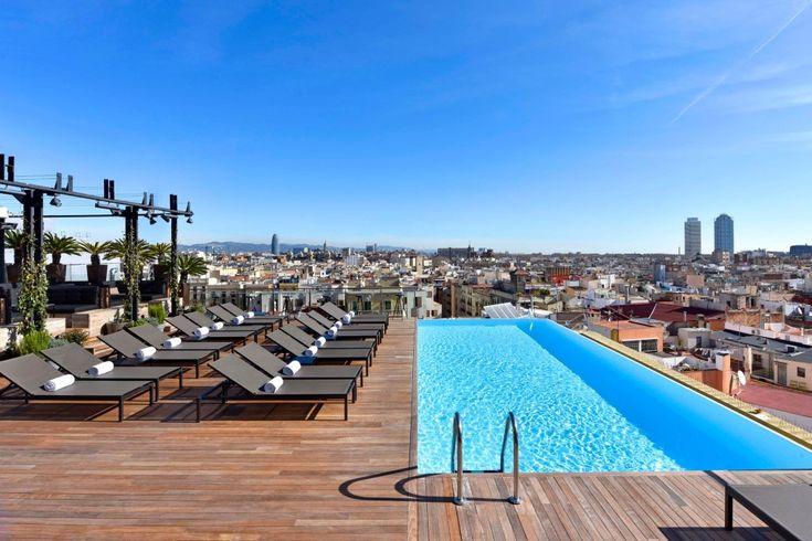 Risultati immagini per hotel piscina barcelona Barcelona Hotels, Barcelona Spain, Gaudi, Barceloneta Beach, Grande Hotel, Hotel Safe, Small Luxury Hotels, Top Hotels, Cheap Hotels