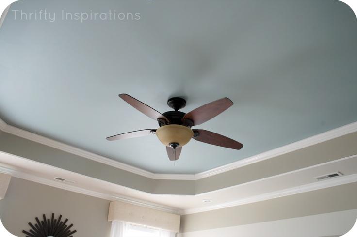 Master Bedroom - painted trey ceiling