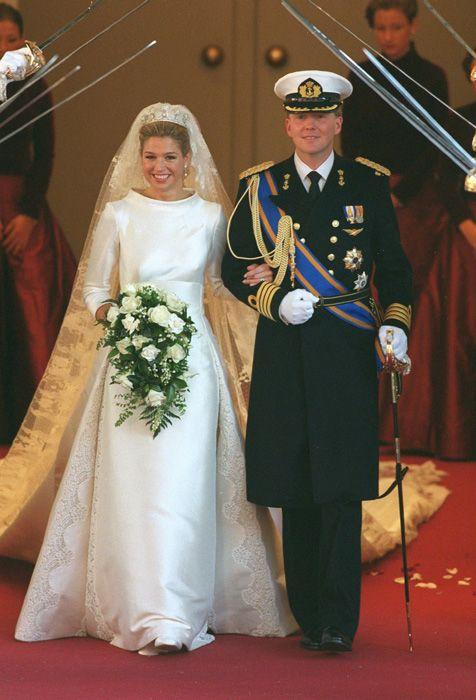Willem & Maxima - beautiful classic dress
