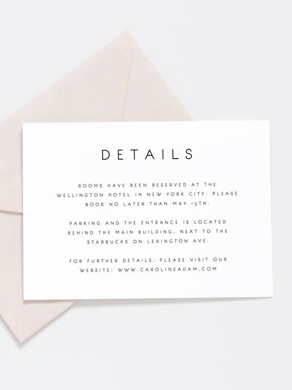 Wedding Details Card Template Printable Accommodations Card Etsy Wedding Details Card Card Templates Printable Wedding Info Card