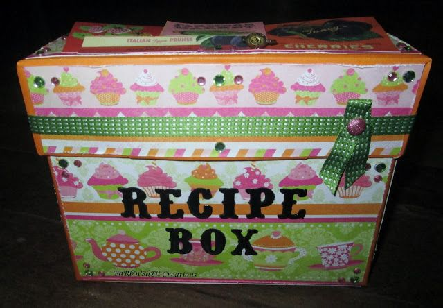 BaRb'n'ShEll Creations - recipe box - made by Shell