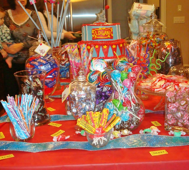 Birthday Party Buffet Table: Candy Buffet For Kid Birthday Party