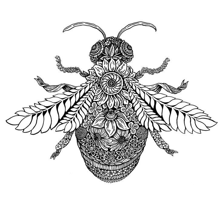 пчелы в графике картинки наступивших